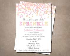 Baby Shower/ Baby Sprinkle Invitation 4x6 or 5x7