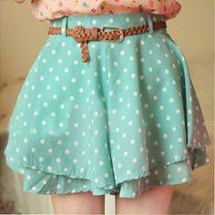 Lady Girl Summer Chiffon Polka Dot ..