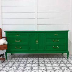 green painted furniture. dresser in emerald milk paint green painted furniture