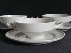 Midcentury KPM Berlin soup mugs