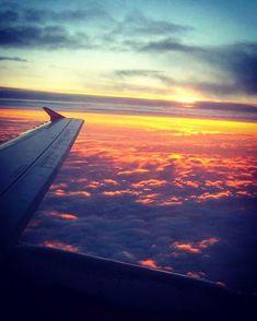Airplane View, Sunrise, Clouds, Sky, Instagram, Heaven, Heavens, Sunrises, Sunrise Photography