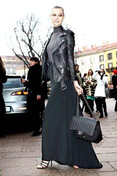 Tendencias primavera 2013 faldas vestidos largos maxi karlie Kloss