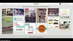 This Tutorial shows how a person would use Pinterest. This is a great place to look for projects because Pinterest has numerous ideas but it also lets people save the ideas in one area so its easy for people to reference the projects for when they want to do them.