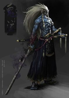 Wicked Samurai-awesome artwork via Fantasy Character Design, Character Design Inspiration, Character Concept, Character Art, Concept Art, Arte Ninja, Ninja Art, Fantasy Armor, Dark Fantasy Art
