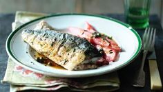 Believe it or not, this is a classic combination. Tart rhubarb cuts through the richness of smoky, oily mackerel for a perfect spring supper. Rhubarb Recipes, Fruit Recipes, Fish Recipes, King Mackerel, Smoked Mackerel, Rhubarb Chutney, Mackerel Recipes, Nigel Slater, Seafood Recipes