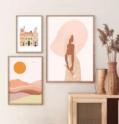Boho Bedroom Decor, Boho Room, Boho Living Room, Room Wall Decor, Boho Nursery, Bedroom Wall, Bedroom Ideas, Master Bedroom, Orange Wall Art