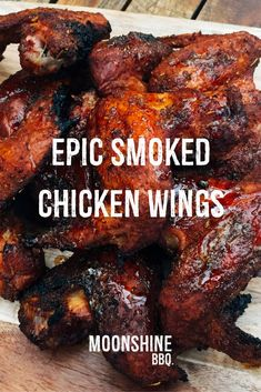 Epic Smoked Chicken Wings Recipe is part of Epic Smoked Chicken Wings Recipe Moonshine Bbq - Smoked chicken wings are simply out of this world No matter how many of them you cook, you will never have enough of them Traeger Recipes, Smoked Meat Recipes, Barbecue Recipes, Grilling Recipes, Weber Grill Recipes, Grilling Ideas, Venison Recipes, Sausage Recipes, Mexican Recipes