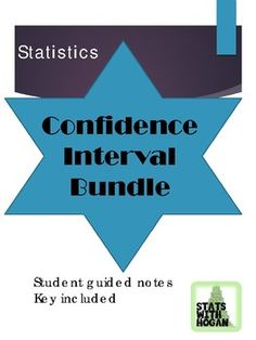 This bundle contains three lessons. -Lesson 1: Confidence Intervals for means -Lesson 2: Confidence Intervals for means (small samples) -Lesson 3: Confidence Intervals for proportions These lessons contain key vocabulary. Students will calculate point estimates, find mimimum sample sizes needed to estimate the population parameters, and construct confidence intervals. Ap Statistics, Algebra 2, Page Number, Teacher Pay Teachers, Homework, Vocabulary, Meant To Be, Confidence, High School