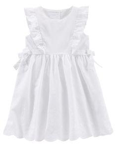 Toddler Girl Eyelet Cotton Dress   OshKosh.com