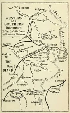 Western and Southern Districts of New South Wales - The Bushrangers - Part Twenty-Three - The Notorious Piesley - An Old Cockatoo Hand Out with Gardiner Cockatoo, Nostalgia, Old Things, South Wales, Police Officer, Maps, Southern, Bullet Journal, Australia