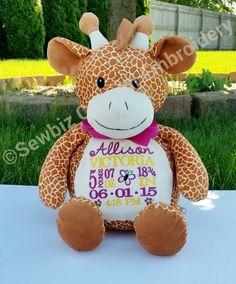 Personalized animal baby cubbies giraffe by tcpassionatestitches personalized giraffe stuffed animal from embroider buddy personalized by sewbiz negle Gallery