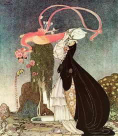1912 illustration by Kay Nielsen for 'The Inconstant Prince' by Comte de Caylus