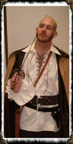 Mens Renaissance Medieval Ruffle Pirate Poet by thewitchesspindle, $50.00