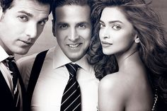 John,Akshay and Deepika