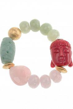 #buddha bracelet with various gemstones I designed for NEW ONE I NEWONE-SHOP.COM