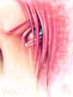 #Naruto #Sakura - i have a lot of sakura!hate feelings, but i truly am in awe at the contrast of brightness of colours and the sadness that is portrayed here
