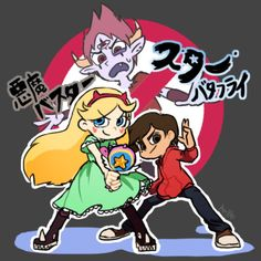 """star vs. the forces of evil will came to japan!!!japanese title is """"悪魔バスター☆スターバタフライ""""(devil buster star butterfly)omg tom! (thanks! not demon but devil? right?)"""
