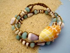 Miter shell wrap bracelet  Hawaii shell jewelry by HayleySommer, $65.00