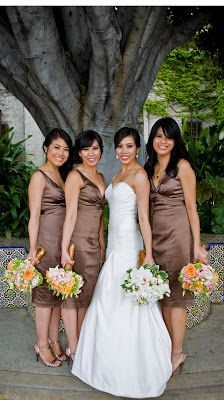 Mocha Colored Bridesmaid Dresses