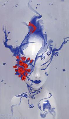 Blue Porcelain by `thienbao on deviantART