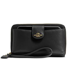 COACH UNIVERSAL POCKET PHONE WALLET IN SMOOTH LEATHER - Wallets & Wristlets - Handbags & Accessories - Macy's