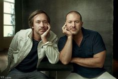 The look, feel and function is only going to get better!!! Marc Newson and Jony Ive posing for a Vanity Fair profile of their (RED) charity auction Famed designer Marc Newson is joining his BFF Jony Ive to serve as
