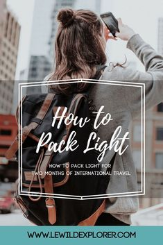 How to Pack Light for International Travel - Soon Cobb Travel Advice, Travel Guides, Travel Tips, Travel Hacks, Travel Stuff, Travel Abroad, Packing List For Travel, Packing Tips, Packing Clothes