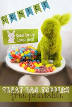 Treat Bag Toppers - Free Printables // www.kfor.com #Easter