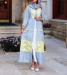 Iranian Women Fashion, Islamic Fashion, Muslim Fashion, Modest Fashion Hijab, Abaya Fashion, Fashion Dresses, Stylish Dress Designs, Designs For Dresses, Simple Pakistani Dresses