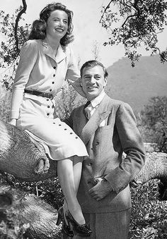 "Barbara Stanwyck and Gary Cooper I remember seeing an old clip of Ms. Stanwick talking fondly of Gary Cooper, after he passed away. She said ""He'll always be my Golden Boy"".  Sniff..sniff:)"