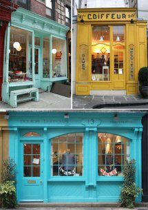 46 Trendy exterior paint colora for business store fronts Exterior Paint Colors For House, Paint Colors For Home, Exterior Colors, Exterior Design, Paint Colours, Yellow Front Doors, Front Door Colors, Brick And Mortar, Shop Front Design
