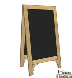 Build a super cute large DIY chalkboard easel to create the perfect sign for your next party or wedding.  Free plans and tutorial!