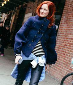 nyfw street style blusa listrada blazer