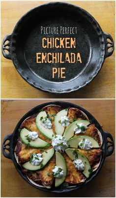 Chicken Enchilada Pie ~ all the best parts of enchilada casserole in a dish that's pretty enough to serve to your mother-in-law. | The Good Hearted Woman