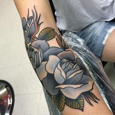 Blue Rose Tattoo by Isaiah Toothtaker