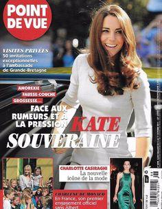 Point De Vue magazine Kate Middleton Charlotte Casiraghi Charlene of Monaco