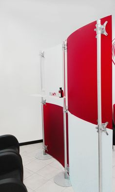 Fluowall modern design room separation , allow to create in a few minutes a movable modular wall to separate your room