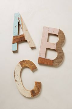 Reclaimed Wood Block Letters - anthropologie.com