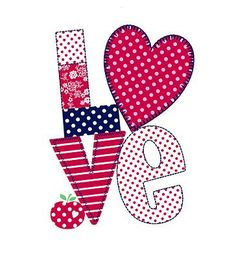 All about surface pattern ,textiles and graphics: Valentines Love Valentines, Valentine Crafts, Decoupage, Patch Aplique, Applique Patterns, Print Patterns, Love Wallpaper, Love Images, All You Need Is Love
