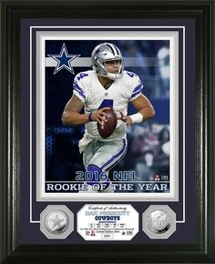 AAA Sports Memorabilia LLC - Dak Prescott 2016 NFL ROY Silver Coin Photo Mint, $99.99 (http://www.aaasportsmemorabilia.com/highland-mint/framed-coin-photo-mint/nfl/dak-prescott-2016-nfl-roy-silver-coin-photo-mint/)