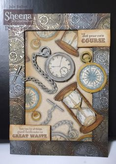 Project created with the Time Traveller collection from Sheena Douglass from #crafterscompanion