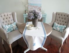 DIY French Table Runner Embroidered & Monogrammed