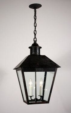 """22"""" Large Antique Exterior Iron Lantern, Early 1900's - $750 on GoAntiques. (sold out)"""