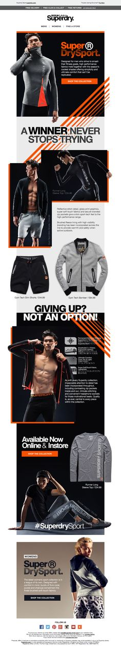 Superdry Sport Mens Email / Newsletter Design