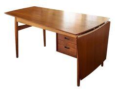 Arne Vodder Drop Leaf Desk in Teak Designed for Sibast