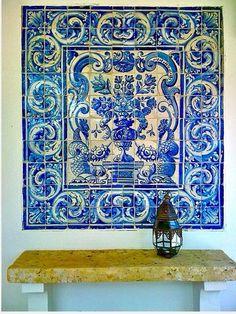 Azulejos: hand made Portuguese tiles. Portuguese Culture, Portuguese Tiles, Tile Art, Mosaic Tiles, Tiling, Portugal, Blue And White China, Delft, Tile Design