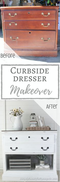 Simply Beautiful by Angela: Curbside Dresser Makeover (AKA The Problem Dresser...