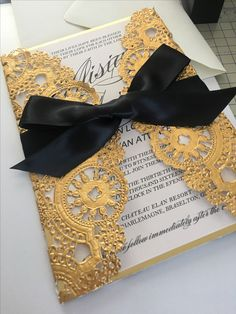 Gold and black wedding invitation  #weddinginvitation