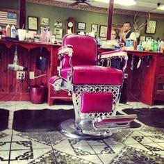 vintage barber chair