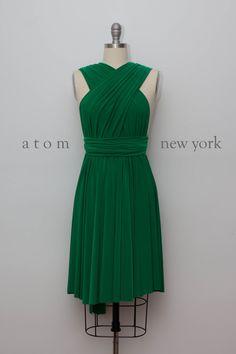 40 Euro Emerald Green Infinity Dress Convertible Formal Multiway Wrap Dress Bridesmaid Dress Party Dress Cocktail Dress Evening Dress Short